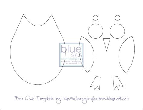 Owl Paper Craft Template - owl pillow template craft