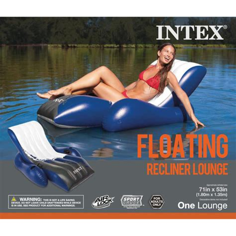 intex recliner lounge intex floating recliner lounge by intex at mills fleet farm