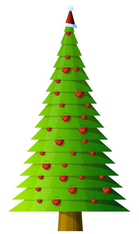rustic christmas tree clipart 59