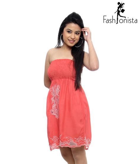 how to dress at58 buy fashionista coral tube dress at rs 499 get 58 off