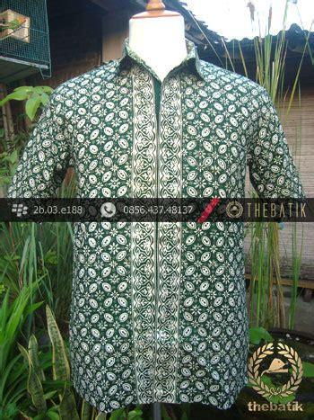 Kemeja Batik Sogan Kawung jual kemeja batik jogja motif kawung hijau thebatik co id