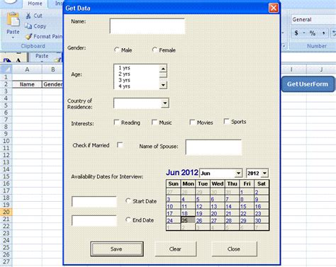 Excel Userform Templates by Calendar Excel Vba Userform Calendar Template 2016
