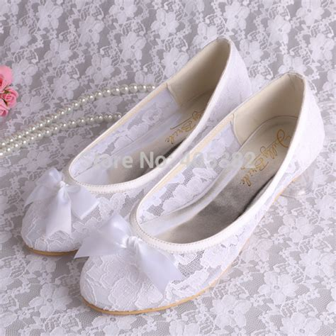 ivory flats wedding shoes wedopus mw029 ivory lace ballet flats bridal wedding shoes