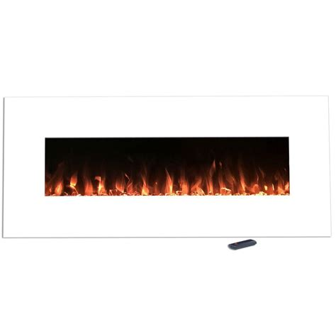 northwest 50 in electric fireplace color changing wall