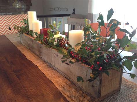 rustic wooden planter centerpiece box rustic home decor