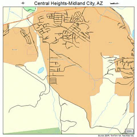 central arizona map central heights midland city arizona map 0411720