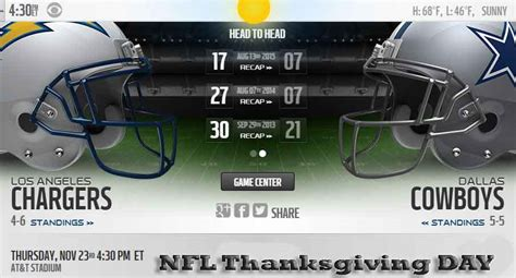 charger cowboy cowboys vs chargers nfl live