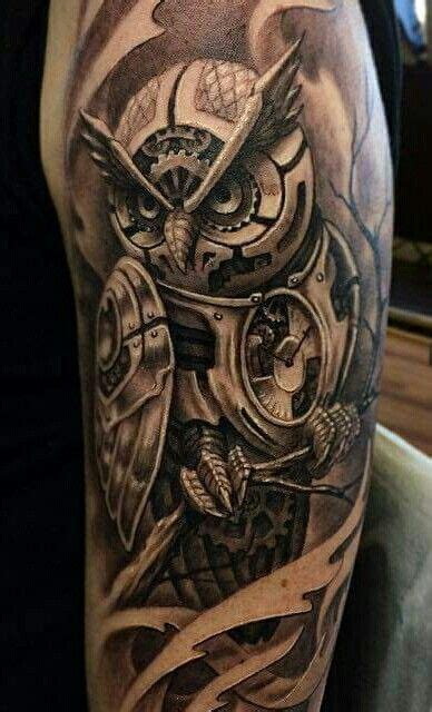 mechanical owl tattoo 9 best images about tattoos on half