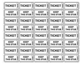 free printable raffle ticket templates blank