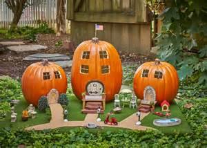 pumpkin challenge fairy garden pumpkin village diy network blog made remade diy