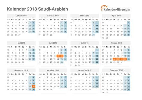 Calendar 2018 Saudi Feiertage 2018 Saudi Arabien Kalender 220 Bersicht