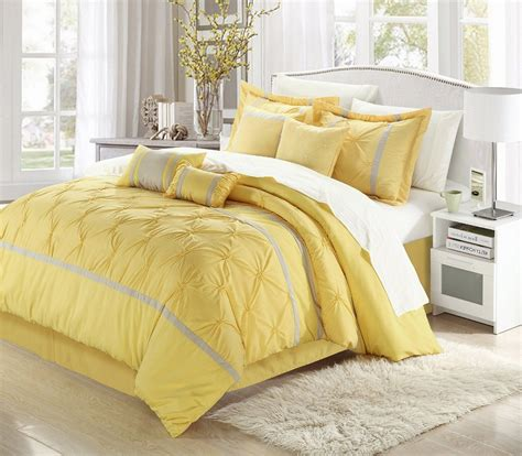 Yellow And Grey Bed Set Cool And Grey And Yellow Bedroom For Sweet Home