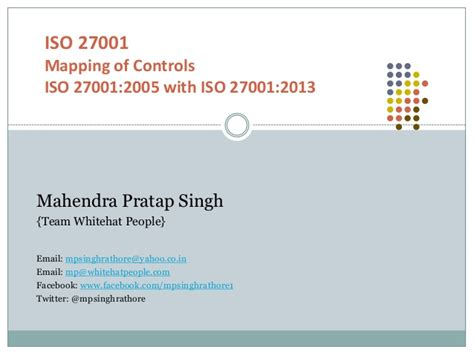 Mapping Of Iso 27001 2005 With Iso 27001 2013