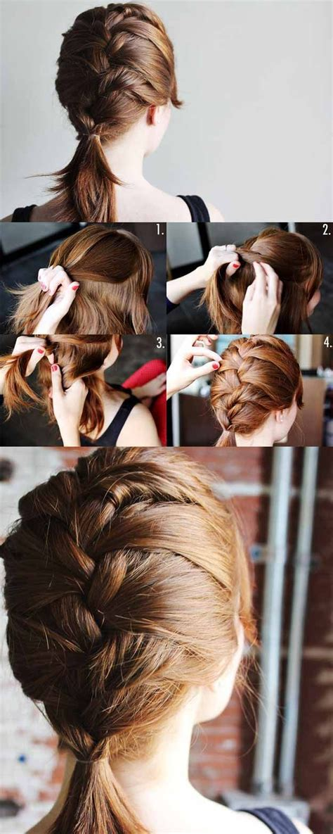 Quick and easy hairstyles for school super sexy hairstyles fun french braid for medium length