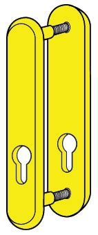 Steel U Bolt Lock Gembok Yellow kickstop mortice deadlockguard