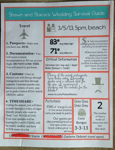 Destination Wedding Brochure For Guests by Pin By Thompson Mcclain On My Cousins Getting