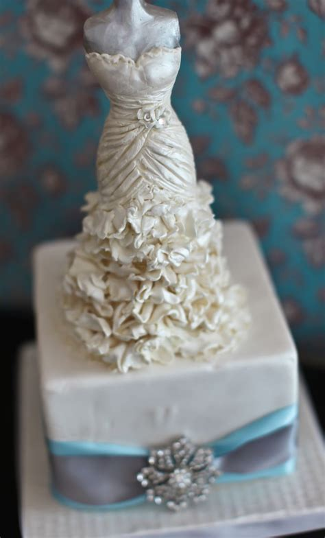 cake decorating wedding shower bridal shower cake topper this wedding dress topper was