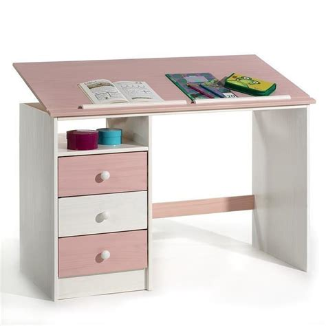 bureau blanc enfant bureau enfant 3 tiroirs lasur 233 blanc achat vente