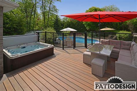 patio design by jas inc conception fabrication et installation de patios fiberon
