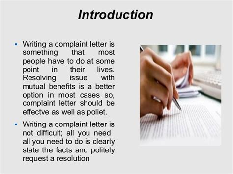 Complaint Letter Introduction Tips To Write Customer Service Complaint Letter