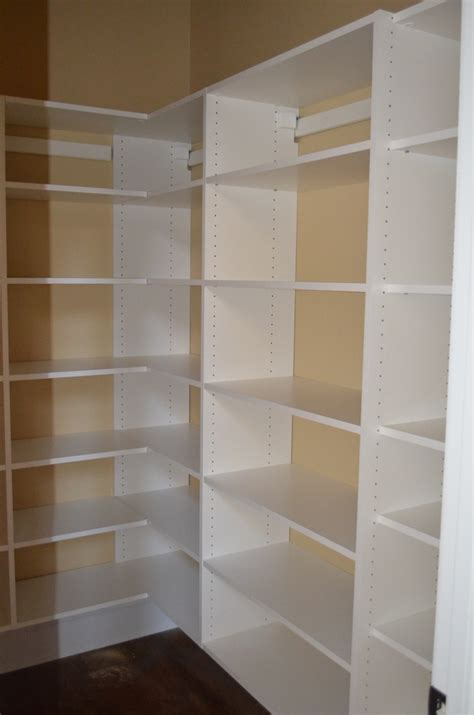 Wood Pantry Shelving Shelving For Pantry Closet Pantry Shelving Plans Kitchen