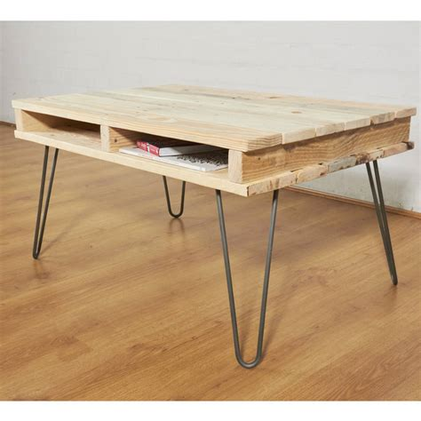 Wood Legs For Coffee Table Reclaimed Pallet Wooden Coffee Table Hairpin Legs By Sunnyside Interiors Notonthehighstreet