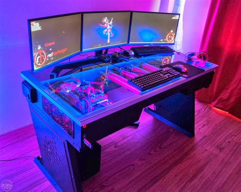 red harbinger cross desk diy pc desk mods red harbinger cross pc desk the