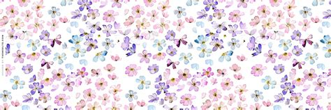 themes ltd banner water color flowers twitter header floral wallpapers