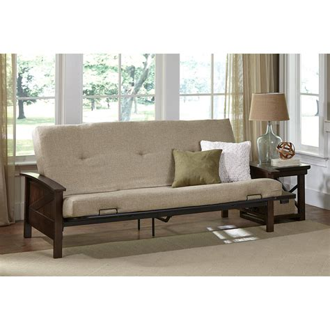 mainstays wood arm futon wood arm futon
