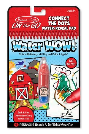 Buku Doug On The Go No Mess Water Wow Animal Hewan Ww002 and doug water wow farm connect the dots travel coloring book