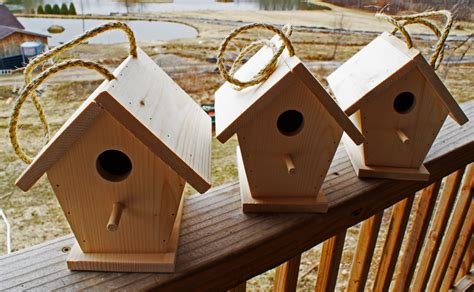 Handmade Wooden Bird Houses - three3 handmade wooden bird house by papsshop on etsy