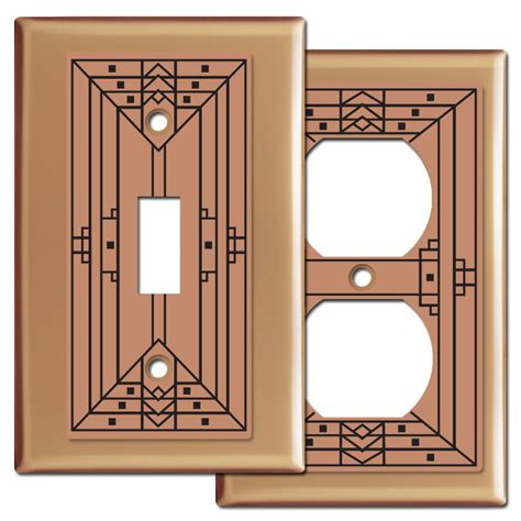 craftsman light switch plates craftsman light switch plate covers in copper kyle design
