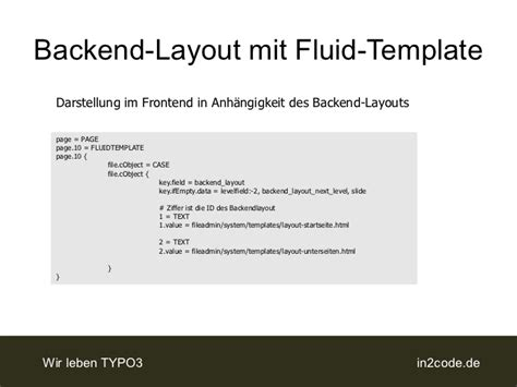 fluid layout email template backendlayout mit fluid templates