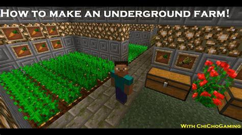 minecraft essentials     underground farm