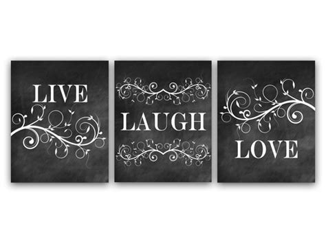live love laugh bathroom set home decor wall art live laugh love art chalkboard wall art