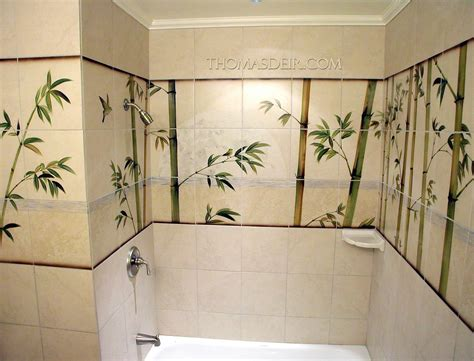bathroom tile murals asian bamboo bath and shower tile murals thomas deir