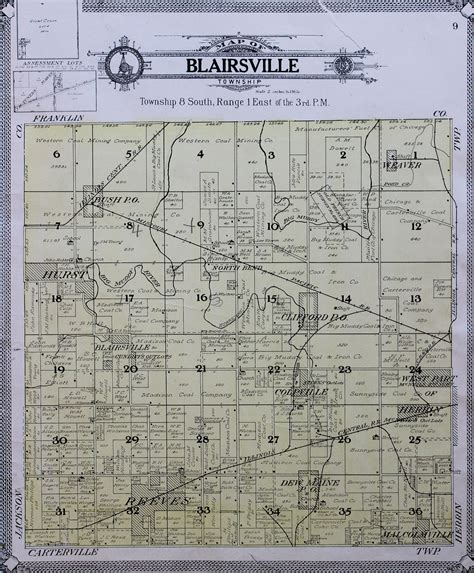 Williamson County Illinois Records 1908 County And Township Maps Williamson County Illinois Historical Society