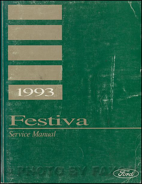manual repair free 1992 ford festiva on board diagnostic system 1993 ford festiva repair shop manual original