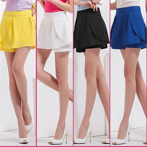 womens chiffon skort 2015 summer culottes skirt shorts