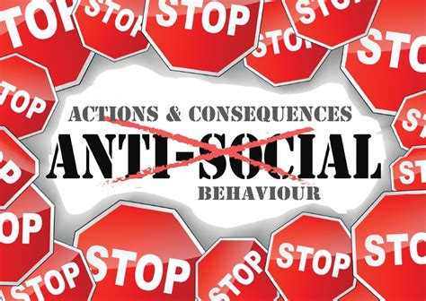antisocial behaviour actions consequences anti social behaviour discussion cards