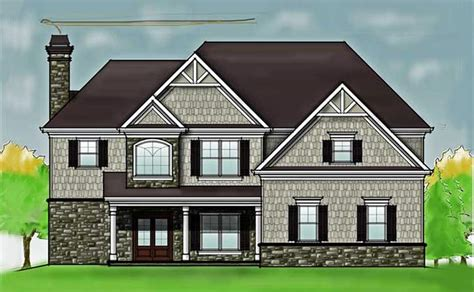 two story 2 story 4 bedroom rustic house floor plan by max fulbright