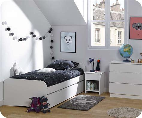 pack lit enfant gigogne twist blanc 90x190 cm avec 2 matelas