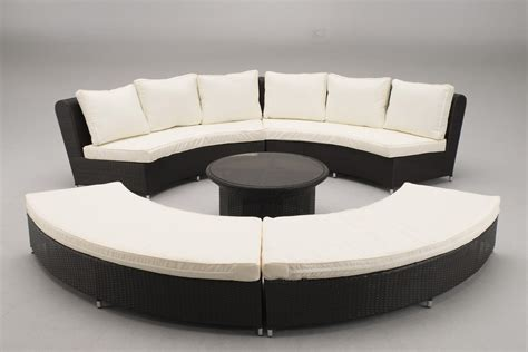Curved Sofa Set Small Curved Sectional Sofa Couch Foter Curved Rattan Sofa