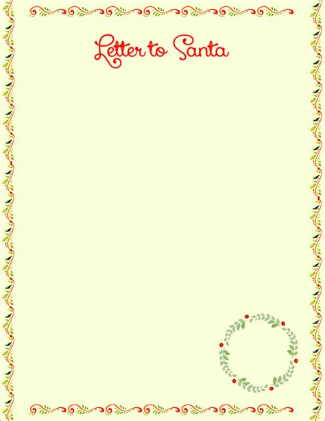 20 Free Letter To Santa Templates For Kids To Write Wishes Dear Letter Template