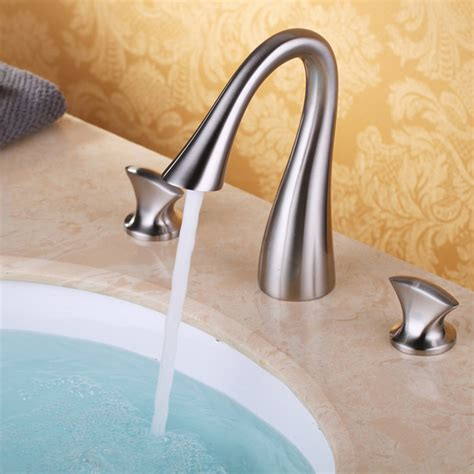 widespread kitchen faucet luxury bathroom widespread sink faucet 3 mixer tap