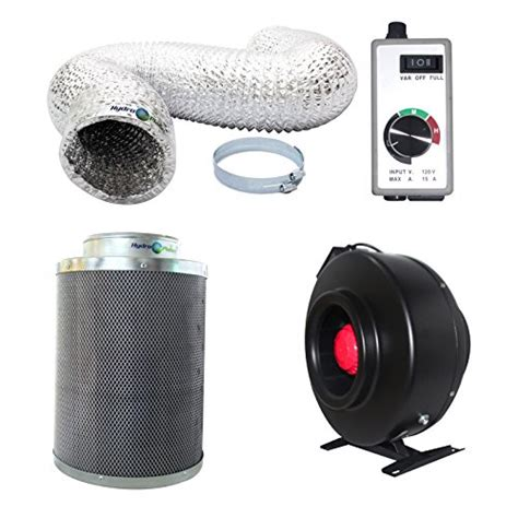 4 inch carbon filter fan combo hydroplanet 8 inch inline fan carbon air filter and 25
