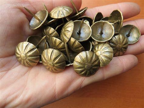 upholstery pins how to use 100pcs lot antique brass daisy sofa nail thumb tacks iron