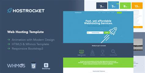 free nulled hostrocket 226 responsive whmcs html template