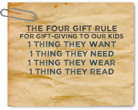 sunshine and silliness the four gift rule of christmas