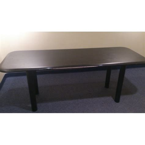 Black Boardroom Table Black Boardroom Table W Tapered Edge Allsold Ca Buy Sell Used Office Furniture Calgary